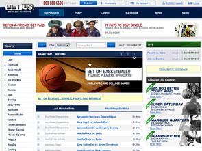 BetUS Sportsbook Lobby