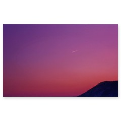 ( ake it uky ) Tags: life pink sunset sky moon film tramonto peace meta violet l