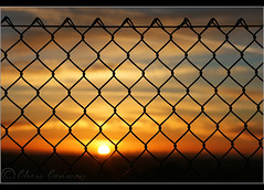Capturing the light.... (Digital Diary........) Tags: sunset abstract silhouette fence captured shapes crank chrisconway goodlight billinge fencefriday