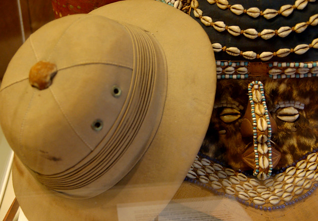 Pith Helmet and Puka Shell Mask