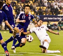 Qatar_2_vs_Japan_3_(35_of_40) (MR ST) Tags: people sport japan horizontal soccer celebration third scoring doha qatar sportsteam capitalcities matchsport afcasiancup scoringagoal internationalteamsoccer asiancup2011 quarterfinalround qatarvsjapan23