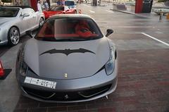 "Ferrari 458 ""Batman"" (Marcinek_55) Tags: auto car mall grey drive dubai italia sony united performance grand ferrari emirates exotic arab saudi arabia batman 55 supercar spotting qatar exotics supercars combo a57 458 marcinek gespot autogespot exoticsonroad"