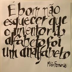 Calligraphy phrase (Ivan Jernimo) Tags: brazil handwriting brazilian lettering calligraphy sumi portuguese mo caligrafia fernandes nanquim escrita     millr