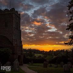 Sunset at St Marys church Great Bealings Suffolk  FoyersPhotography (Bob Foyers) Tags: wordpress foyersphotography
