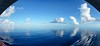 Looking Glass (Rice Bear) Tags: bahamas mscdivina pano panorama caribbean sea clouds glassy mirror blue waters cruising cruise travel ocean