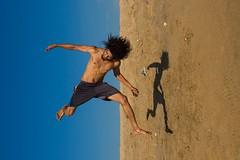At Marina beach (Akilan T) Tags: sigmaart sigma akilanphotography akilan blue sky man one jump acrobatic acrobat marinabeach beach marina india tamilnadu chennai