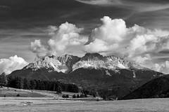 Italia - Alto Adige - Aldino - Latemar (settembre 2016) (fabiodrigo) Tags: blackandwithe bw biancoenero bn landscape landscapes paesaggi paesaggio monochrome