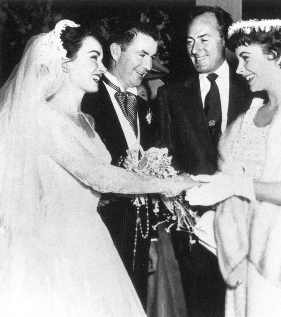 Ann Blyth, Patrick McNulty, Michael Wilding and Elizabeth Taylor