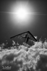 wingman (images-by-TLP) Tags: clouds mono hangglider kingscliff timlashbrookphotography holidaynov2010 wwwtimlashbrookphotographycomau