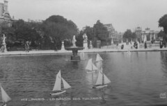 Antique Victorian French Post Card Pond Yachts Bassin de Tuileries (oldsailro) Tags: park old boy sea summer people sun lake playing paris beach water fountain pool girl sunshine youth sailboat race vintage children french fun toy boat miniature wooden pond model waves sailing ship child post time yacht antique group victorian boom mat card regatta tuileries yachts hull spectators watercraft bassin adolescence keel fashioned