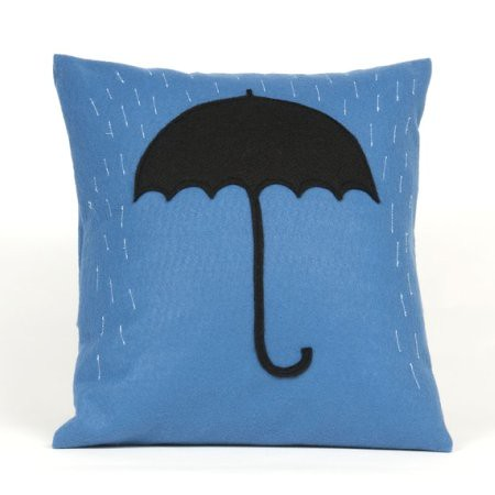 Rainy Day Felt Pillow