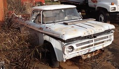 Forgotten Dodge (Dave* Seven One) Tags: rot history classic abandoned nature car neglect truck vintage junk rust time decay rusty pickup forgotten dodge junkyard 1970s ram past dents fallingapart fleetside