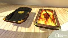 PlayStation Home: new pool tables: the Judge Dredd table, and Skull table