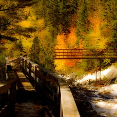 The bridge...!!! (Denis Collette...!!!) Tags: bridge autumn art fall nature automne river photography see photographie rivire pont reality create communion rapid chute vois jette rapide cration batiscan philisophical ralit philosophique img8308 mkinac vraienature rivirebatiscan philophicalart vraienaturedeschoses naturedeschoses notedamedemontauban lachute5piastres artphilosophique
