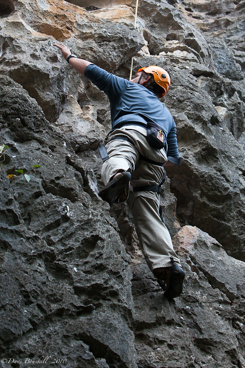 Dave Rock Climbing in Yangshuo China