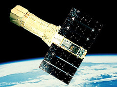 ASCA satellite in orbit