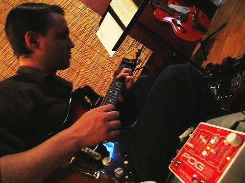 Matt rocks an Electro-Harmonix POG 2