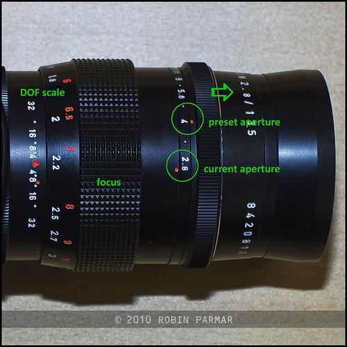 preset aperture mechanism