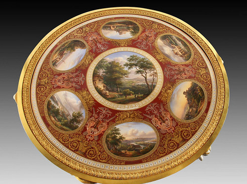 009-Tablero del Velador con vistas de las orillas del sena 1841-1843-Porcelana de Sèvres-© 2005-2010 Musée du Louvre