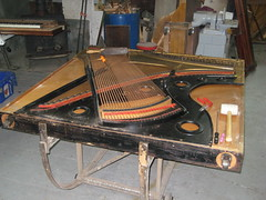 Berlin Piano - mechanics to be restored (Ponyta!) Tags: music ontario berlin montral antique montreal victorian piano kitchener beethoven restored classical upright mozart musique vivaldi droit classique victorien restaur