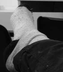 Shoes off in class (wishfoot88) Tags: school college feet socks ball foot sock toes soft university toe arch balls arches class heels heel uni sole soles ticklish instep toosie insteps
