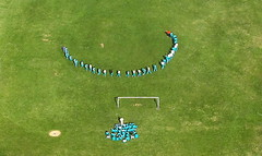 Let's play (<Younes>) Tags: green field football play iran tehran    younes      kolahdouz