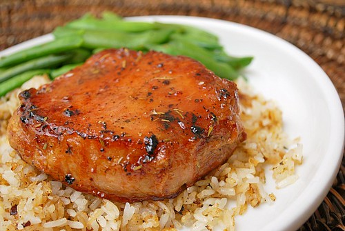 Instant Pot: Maple Rosemary Glazed Pork Chops