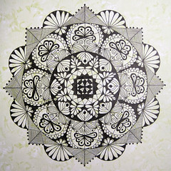 mandala002 (Amaryllis Creations) Tags: mandala penink zentangle