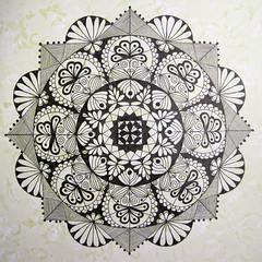 mandala002 (Amaryllis Creations) Tags: mandala penink zentangle