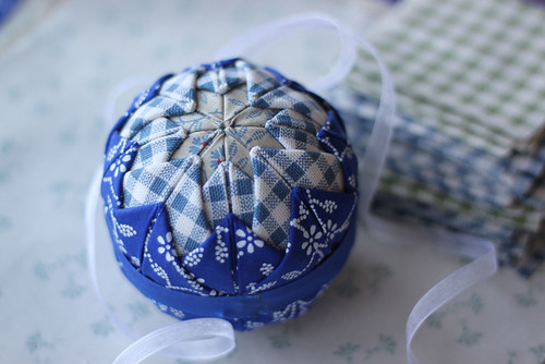 Blue Quilted Xmass Ball
