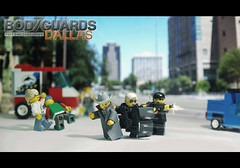 Bodyguards Texas street firing 2 (Shobrick) Tags: street man cars studio dallas artist texas lego crowd rich panic tiny unknown ba tt wealthy custom bullets suitcase mp5 firing kevlar tactical uas bodyguards mp7 brickarms shobrick