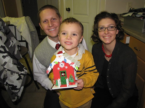 foam gingerbread house building
