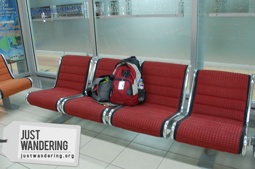 Sleeping at Brunei Airport