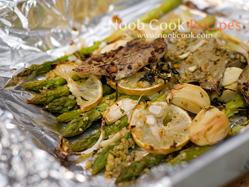Roasted Asparagus with Garlic, Lemon & Thyme