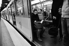 (c'estlavie!) Tags: street girls people urban blackandwhite paris france girl female subway nikon women metro candid mtro streetphotography rue candide parisienne rapt parisunderground