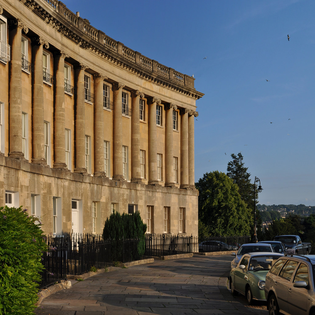 royal crescent, bath. john wood the younger, 1767-1774.