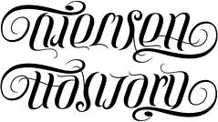 """""""Nielsen"""" & """"Hayward"""" Ambigram"""