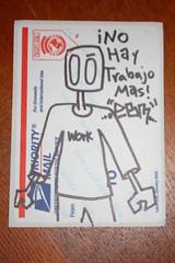 """EBM """"NO HAY TRABAJO MAS"""" (_:MemphisOrDie:_) Tags: street art graffiti sticker memphis tennessee slap ebm"""