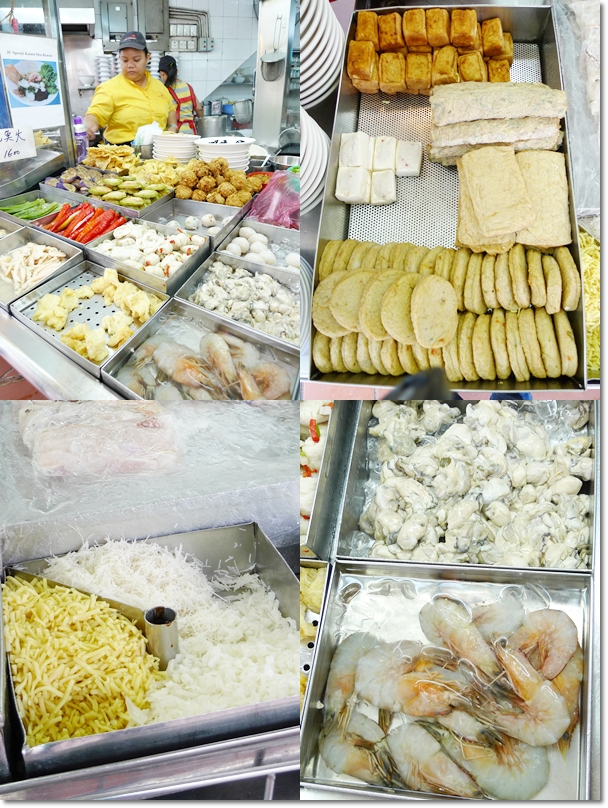 Various Seafood and Yong Tau Foo