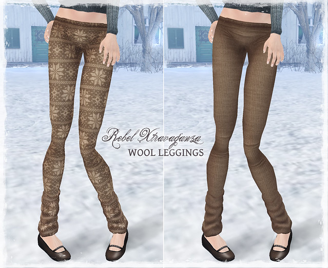 Rebel Xtravaganza - Wool Leggings BEIGE