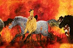 Wild Horses (dbushue) Tags: horses oklahoma painting ceramic colorful bright vivid cherokee 2010 nativeamericanart coth supershot theunforgettablepictures damniwishidtakenthat dragondaggerphoto sonjakayres