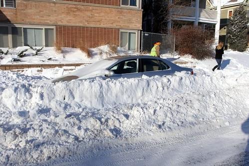 plowed in