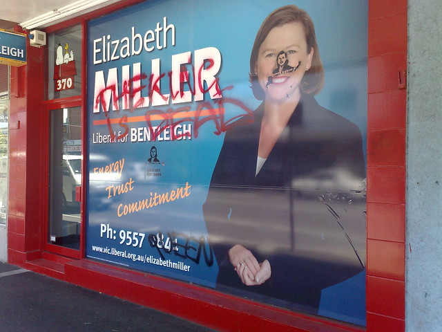 Elizabeth Miller's Bentleigh electorate office vandalised