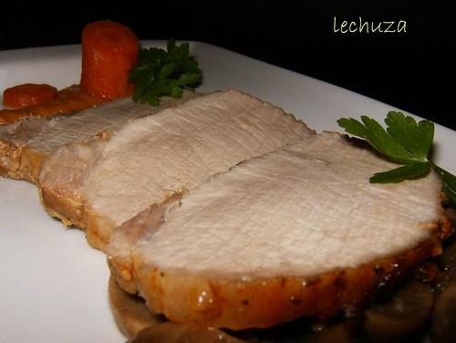 Lomo de cerdo asado-detalle.