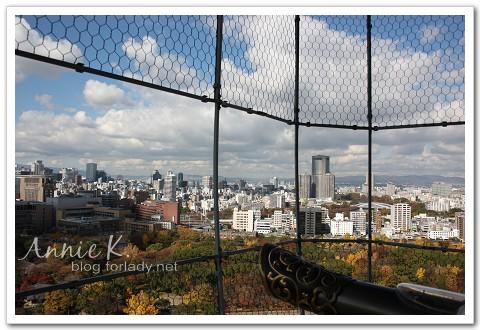 大阪城天守閣上視野