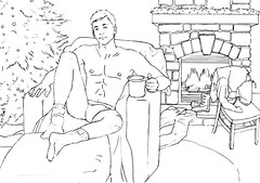 Merry Christmas, pin-up sketch by Paul Richmond (Paulysworld) Tags: christmas boy sexy male men art fall illustration vintage painting naked nude sketch model erotic underwear legs butt humor hunk guys kitsch cheesecake drop retro semi jeans briefs novelty scenario homosexual undies situation stripped caught pinup stud exposed beefcake underpants skimpy pantsed skivvies embarrass revealed objectify pantsdown strapping undershorts