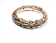 pink gold (balnikova) Tags: pink gold jewellery bracelet bangle