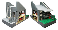 Rdovre Townhouse (Joh) Tags: house architecture denmark lego interior townhouse bricks danmark furnishings townplanning terraced rdovre lightgrey darkgrey rodovre flexiblelivingspace