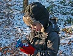 literacy is everywhere (litrate) Tags: xmas red reading woods literacy tithebarnwoods minus6