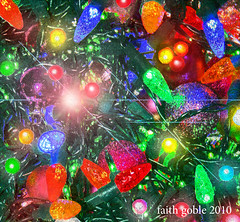 Christmas Lights (faith goble) Tags: christmas xmas trees color tree art bulb photoshop season aluminumfoil lights holidays energy artist poem photographer power kentucky ky faith decoration twinkle led cc ornaments card wires poet electricity writer cheer facet extrude freetouse goble faithgoble gographix creaivecommons bowiinggreen faithgobleart